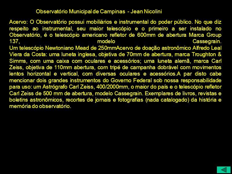 Observatório Municipal de Campinas - Jean Nicolini
