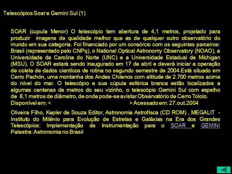 Telescópios Soar e Gemini Sul (1)
