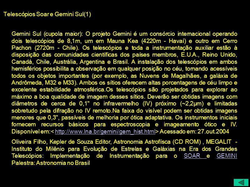 Telescópios Soar e Gemini Sul(1)
