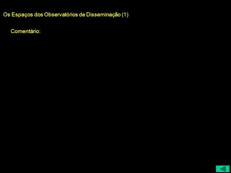 Os Espaços dos Observatórios de Disseminação (1)