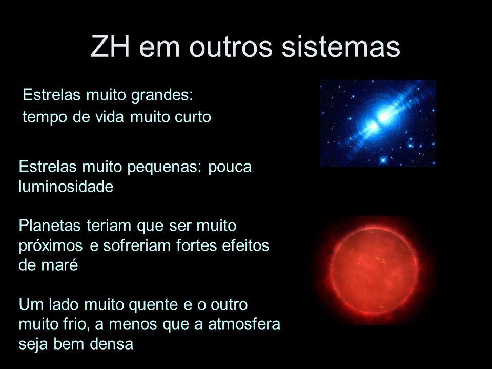 ZH em outros sistemas Estrelas muito grandes: