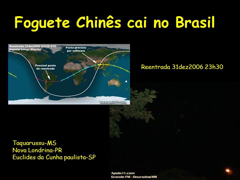 Foguete Chinês cai no Brasil
