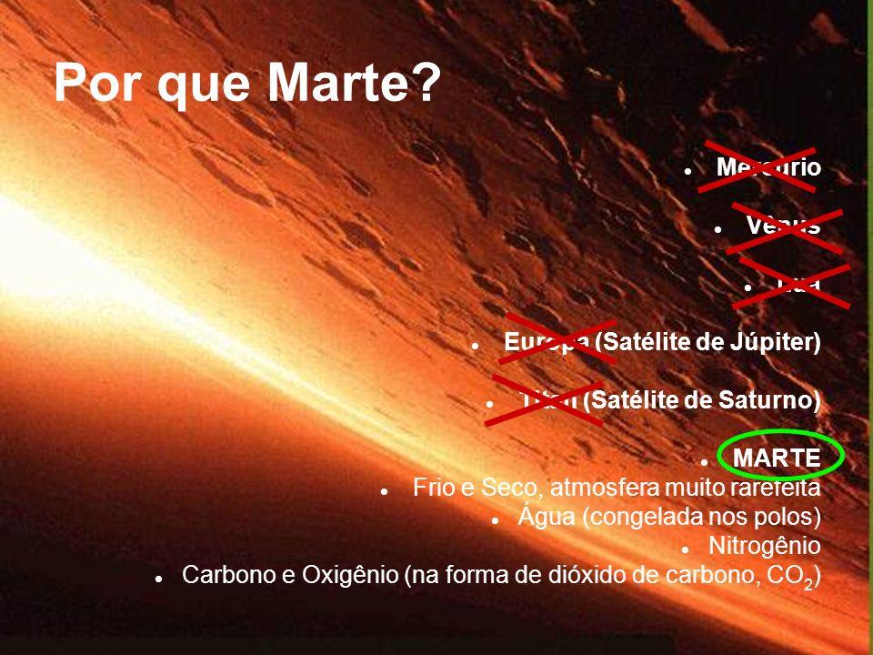 Por que Marte Mercúrio Vênus Lua Europa (Satélite de Júpiter)