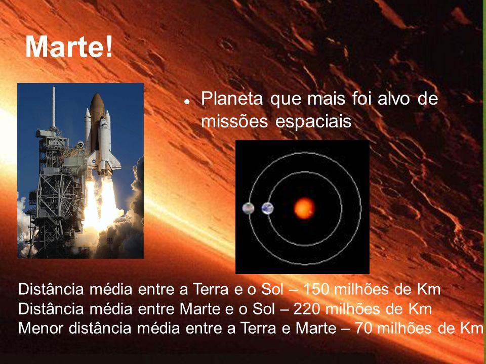 Marte! Planeta que mais foi alvo de missões espaciais