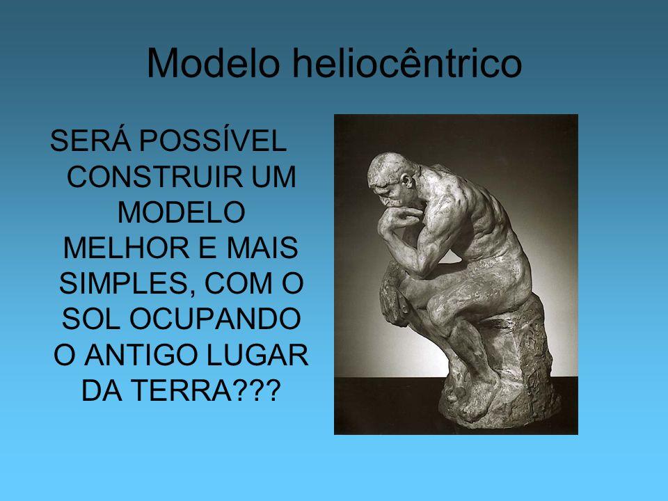 Modelo heliocêntrico SERÁ POSSÍVEL CONSTRUIR UM MODELO MELHOR E MAIS SIMPLES, COM O SOL OCUPANDO O ANTIGO LUGAR DA TERRA
