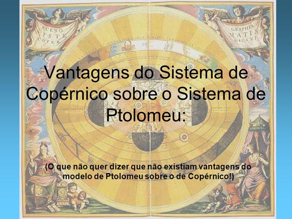 Vantagens do Sistema de Copérnico sobre o Sistema de Ptolomeu: