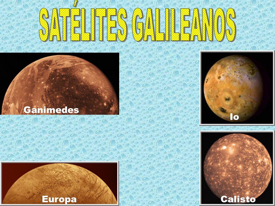 SATÉLITES GALILEANOS Ganimedes Io Europa Calisto