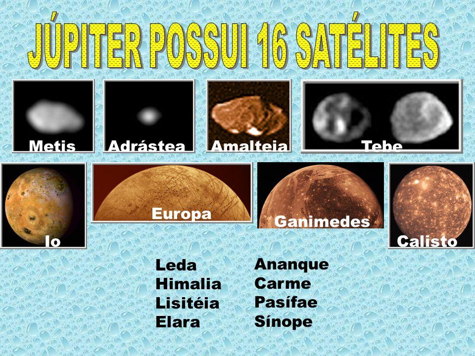 JÚPITER POSSUI 16 SATÉLITES