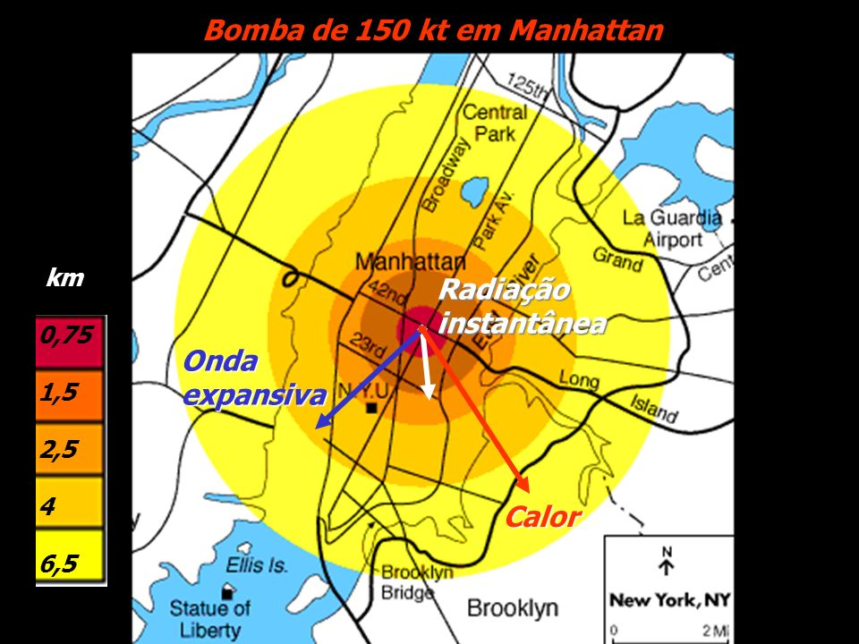 Bomba de 150 kt em Manhattan