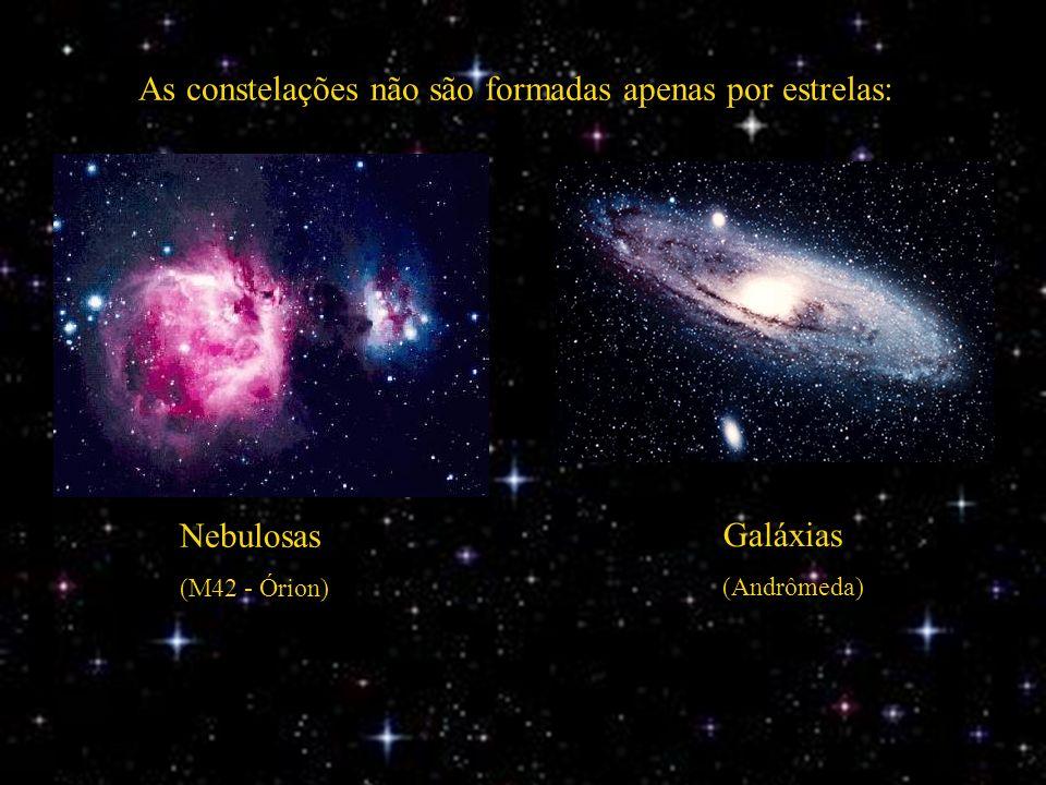As constelações não são formadas apenas por estrelas: