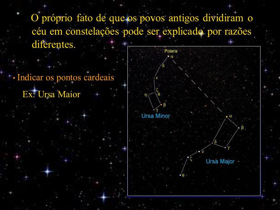 O próprio fato de que os povos antigos dividiram o céu em constelações pode ser explicado por razões diferentes.