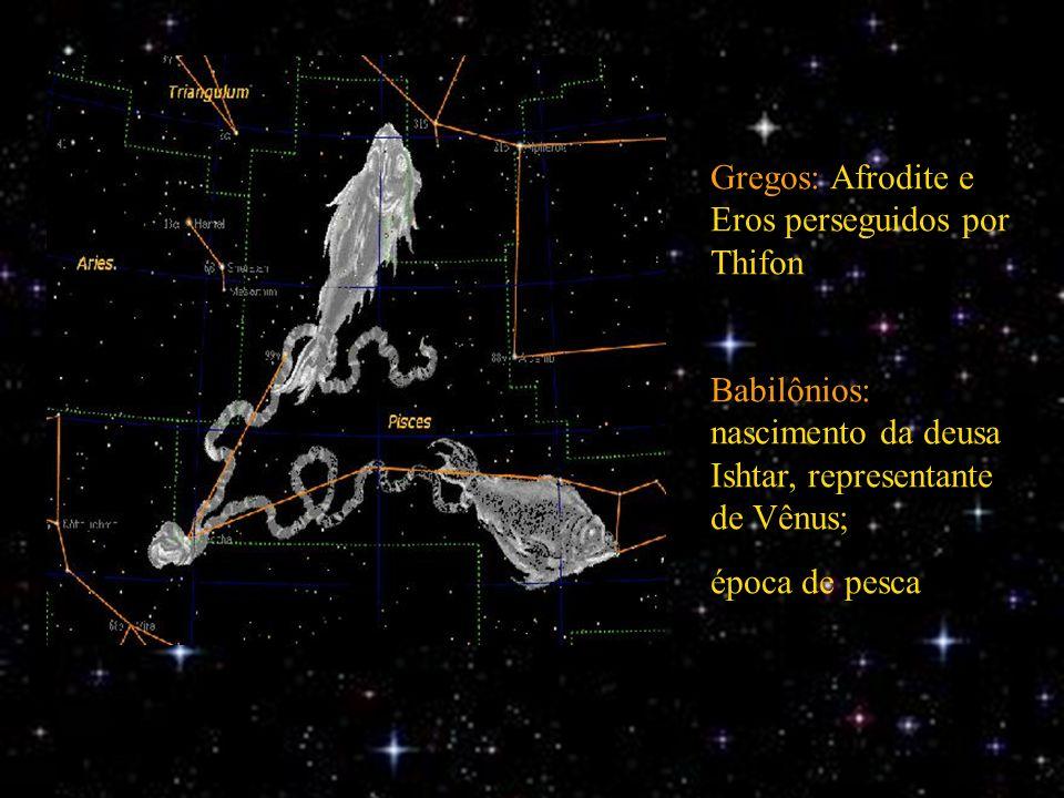 Gregos: Afrodite e Eros perseguidos por Thifon