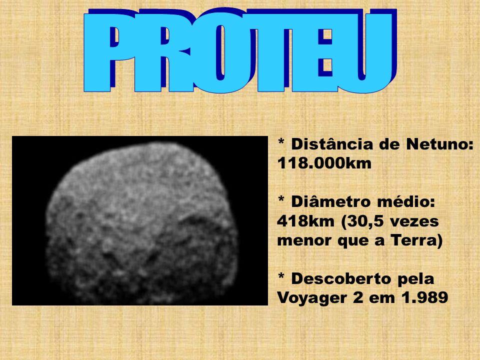 PROTEU * Distância de Netuno: 118.000km