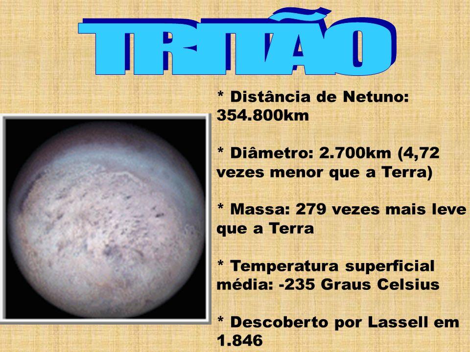 TRITÃO * Distância de Netuno: 354.800km