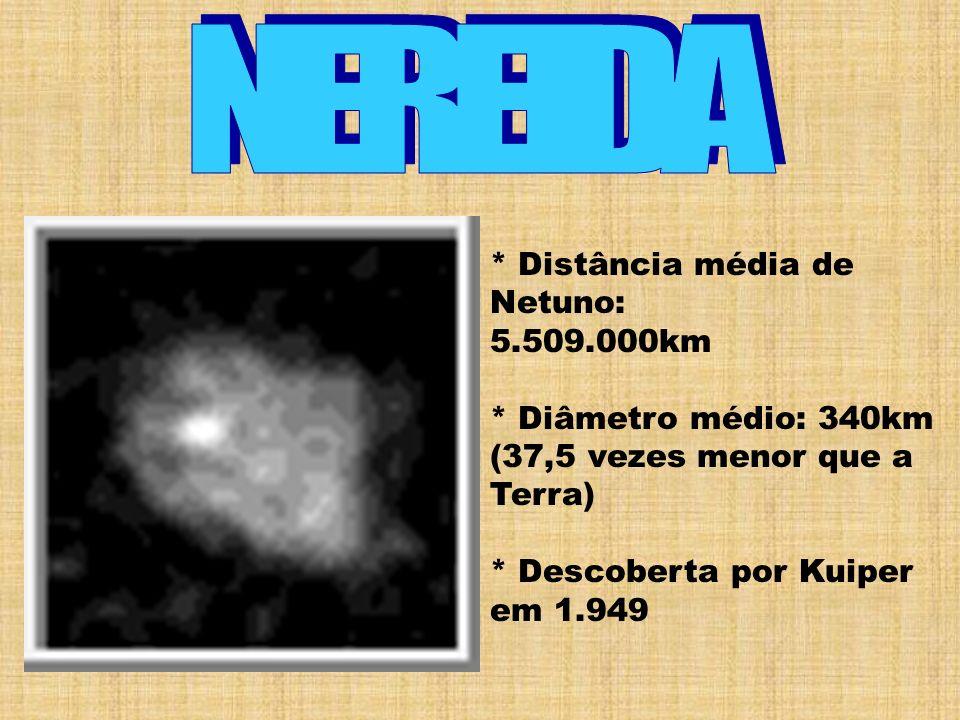 NEREIDA * Distância média de Netuno: 5.509.000km
