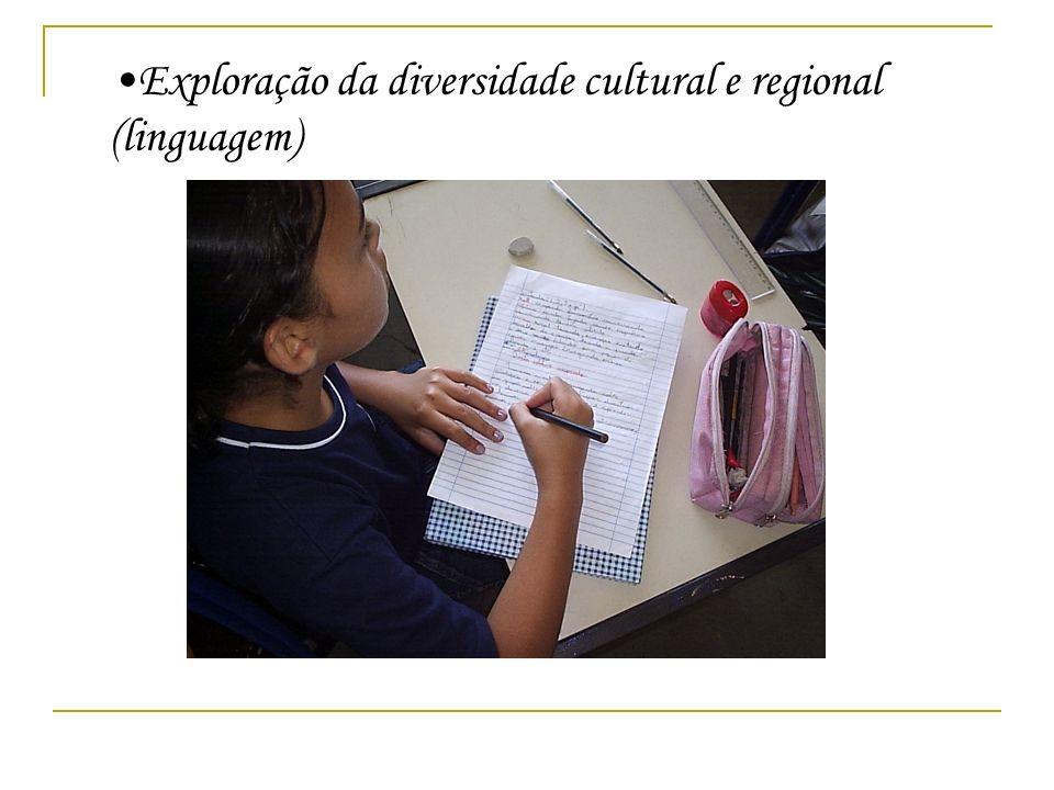 Exploração da diversidade cultural e regional (linguagem)