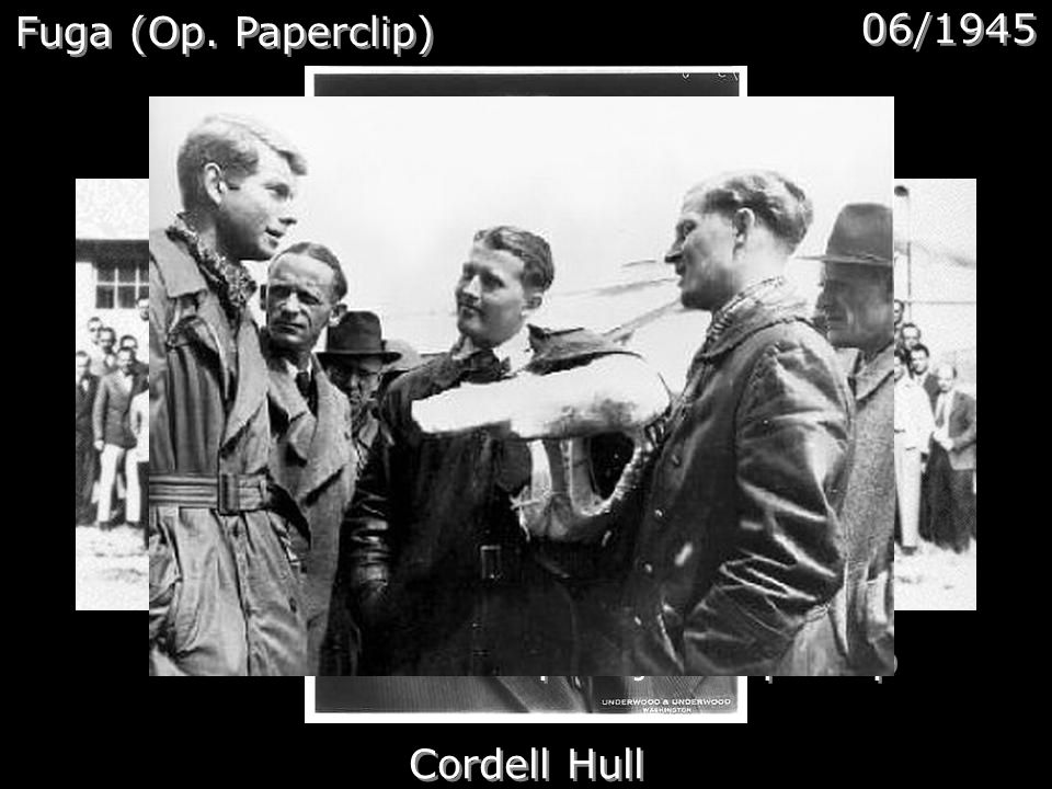 Fuga (Op. Paperclip) 06/1945 Cordell Hull Cientistas da Operação Paperclip