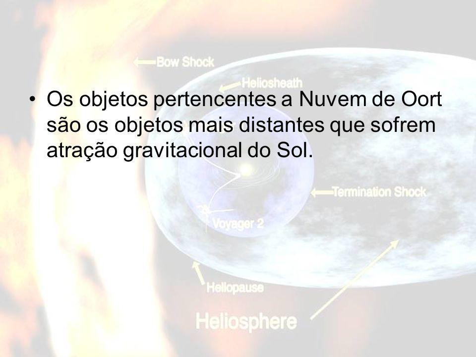 Os objetos pertencentes a Nuvem de Oort são os objetos mais distantes que sofrem atração gravitacional do Sol.