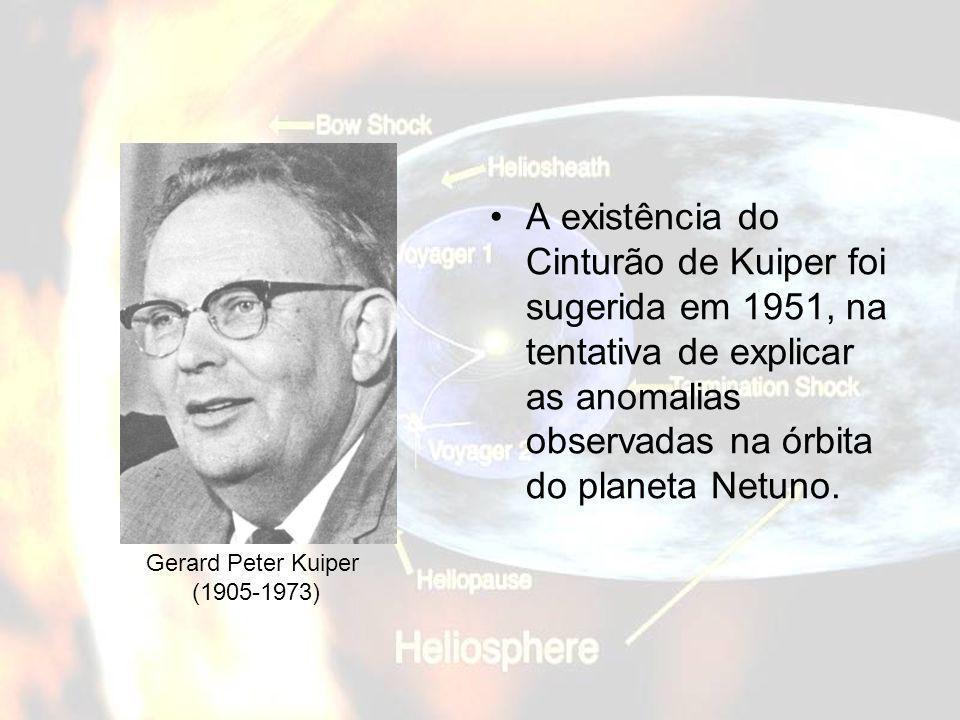 A existência do Cinturão de Kuiper foi sugerida em 1951, na tentativa de explicar as anomalias observadas na órbita do planeta Netuno.