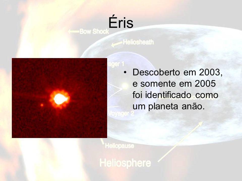 ÉrisDescoberto em 2003, e somente em 2005 foi identificado como um planeta anão.