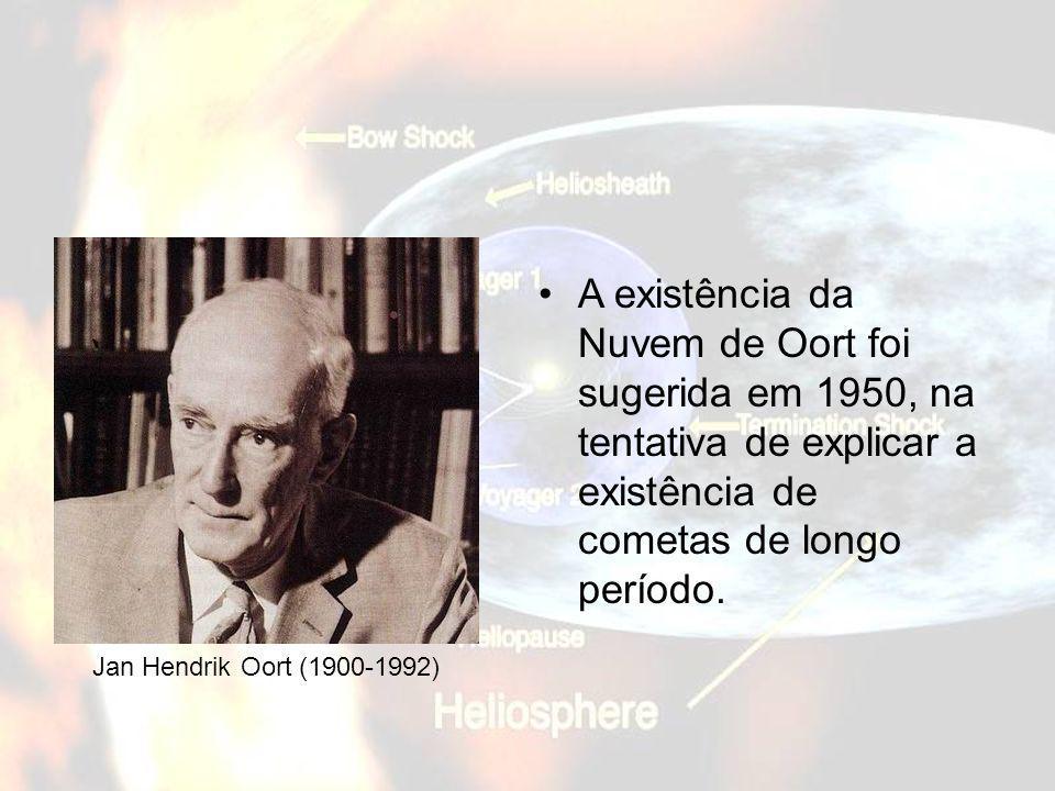 A existência da Nuvem de Oort foi sugerida em 1950, na tentativa de explicar a existência de cometas de longo período.