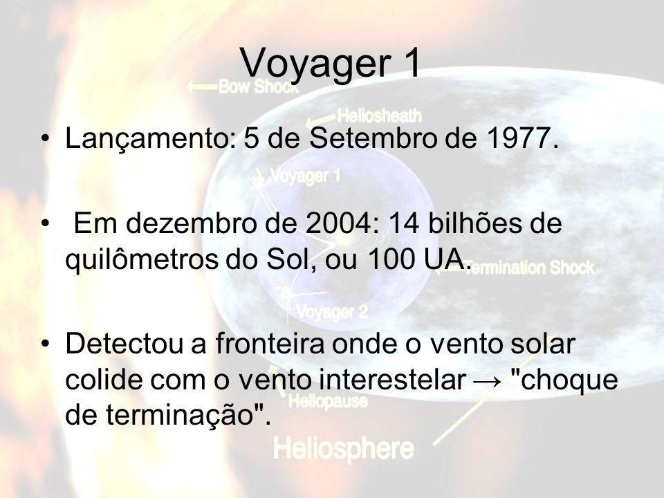 Voyager 1 Lançamento: 5 de Setembro de 1977.