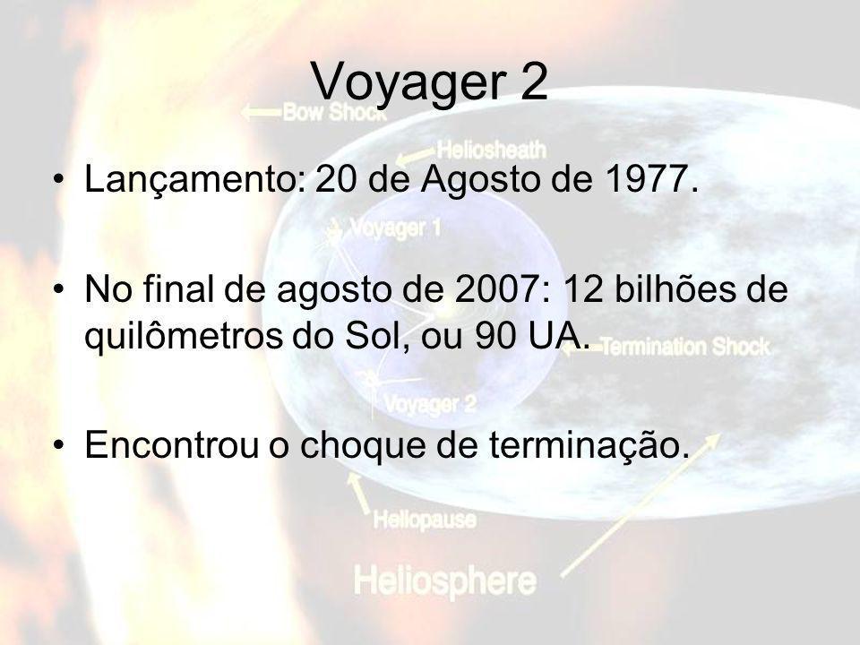 Voyager 2 Lançamento: 20 de Agosto de 1977.