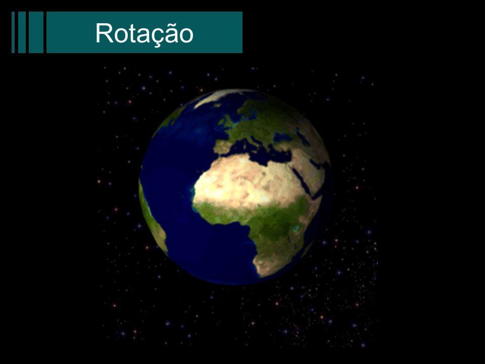 RotaçãoEsta imagem tem apenas caráter ilustrativo da rotação da Terra, não obedecendo os dados apresentados anteriormente.