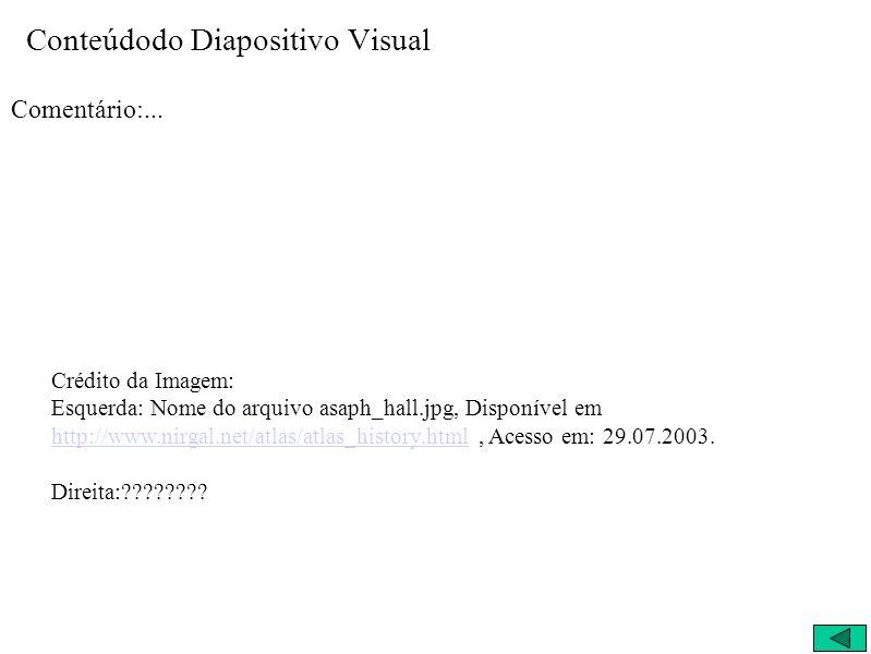 Conteúdodo Diapositivo Visual