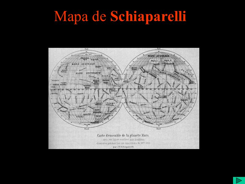 Mapa de Schiaparelli