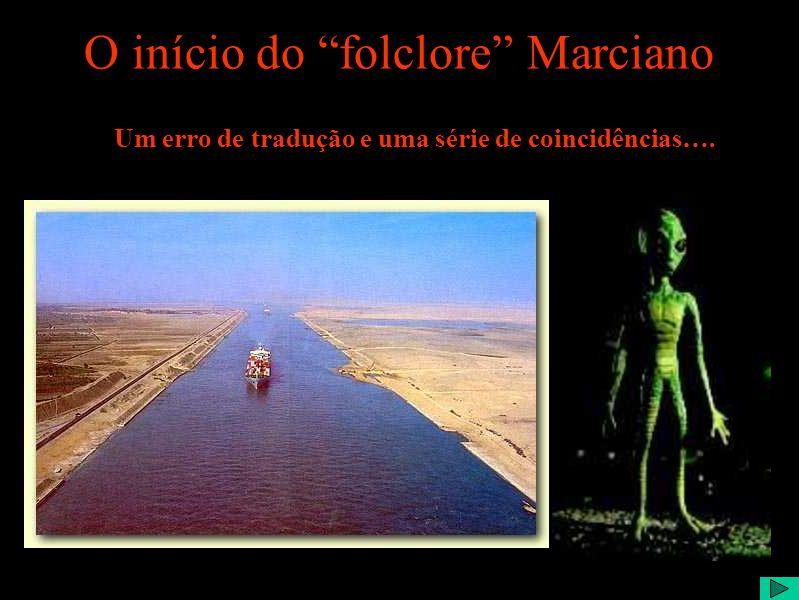 O início do folclore Marciano