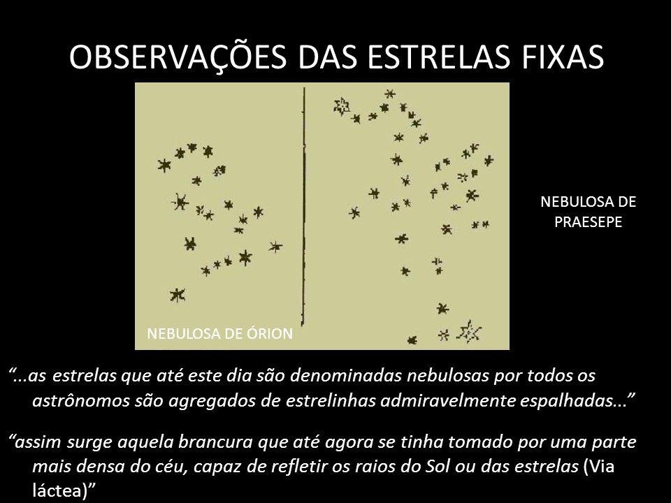 OBSERVAÇÕES DAS ESTRELAS FIXAS