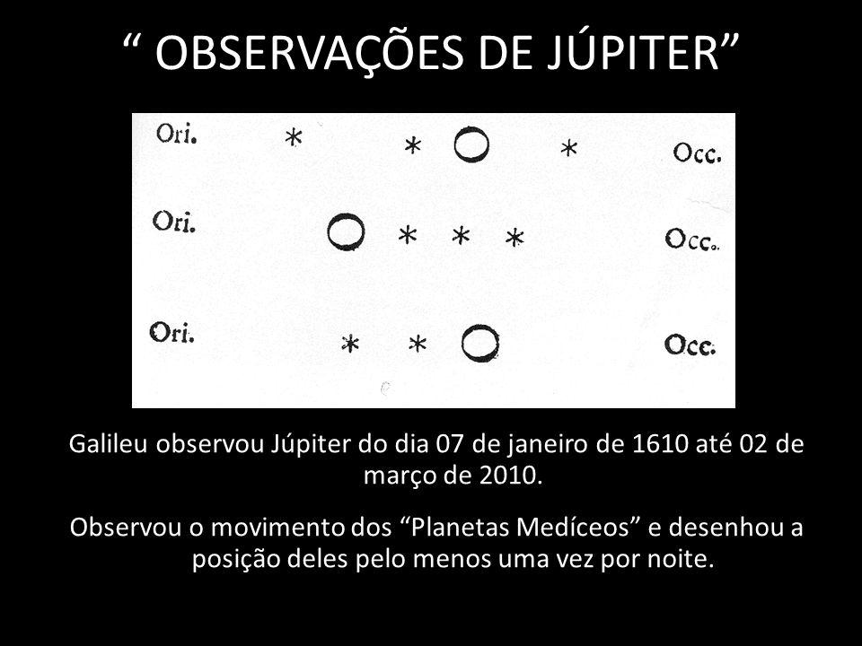 OBSERVAÇÕES DE JÚPITER