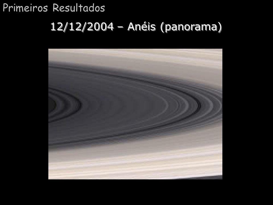 Primeiros Resultados 12/12/2004 – Anéis (panorama)