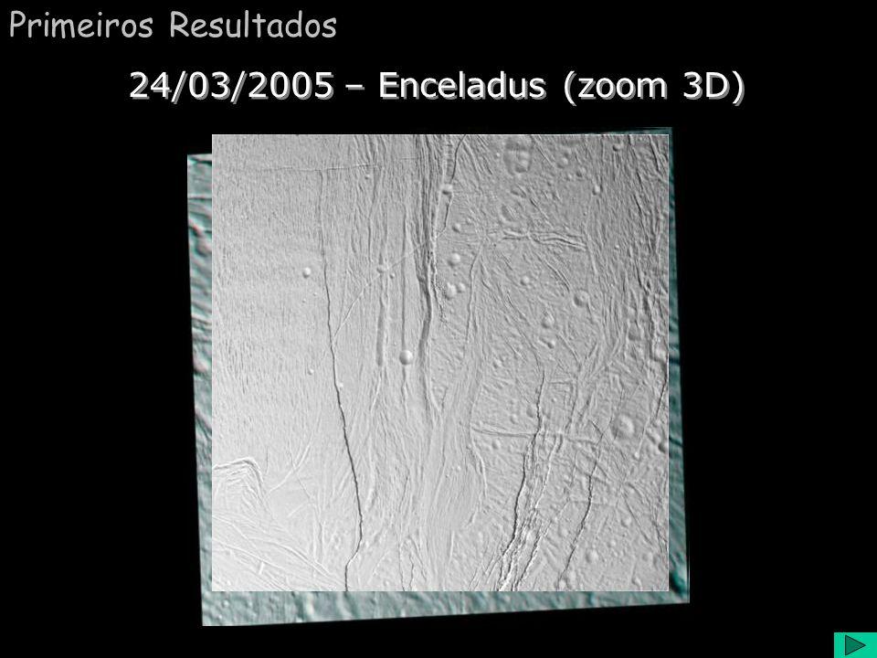 Primeiros Resultados 24/03/2005 – Enceladus (zoom 3D)