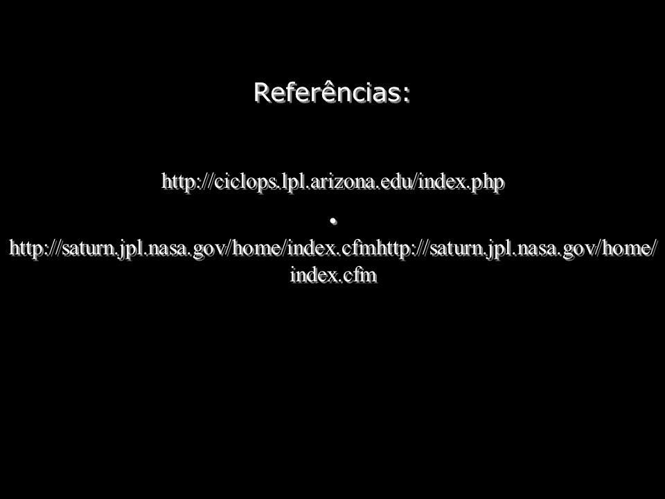 Referências: http://ciclops.lpl.arizona.edu/index.php