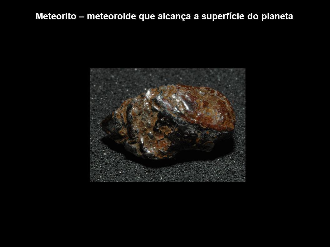 Meteorito – meteoroide que alcança a superfície do planeta