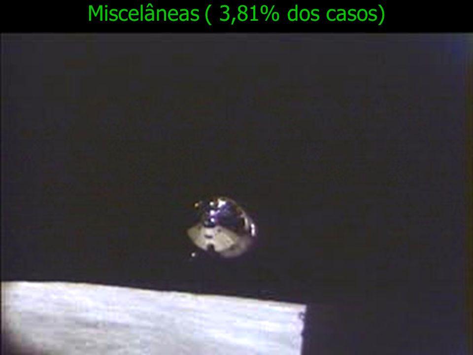 Miscelâneas ( 3,81% dos casos)
