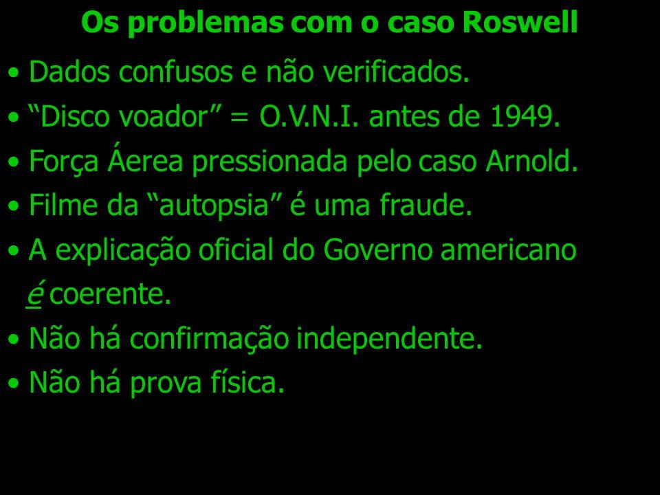 Os problemas com o caso Roswell