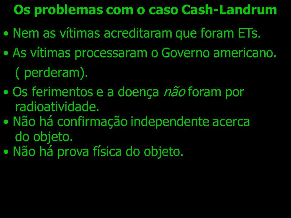 Os problemas com o caso Cash-Landrum