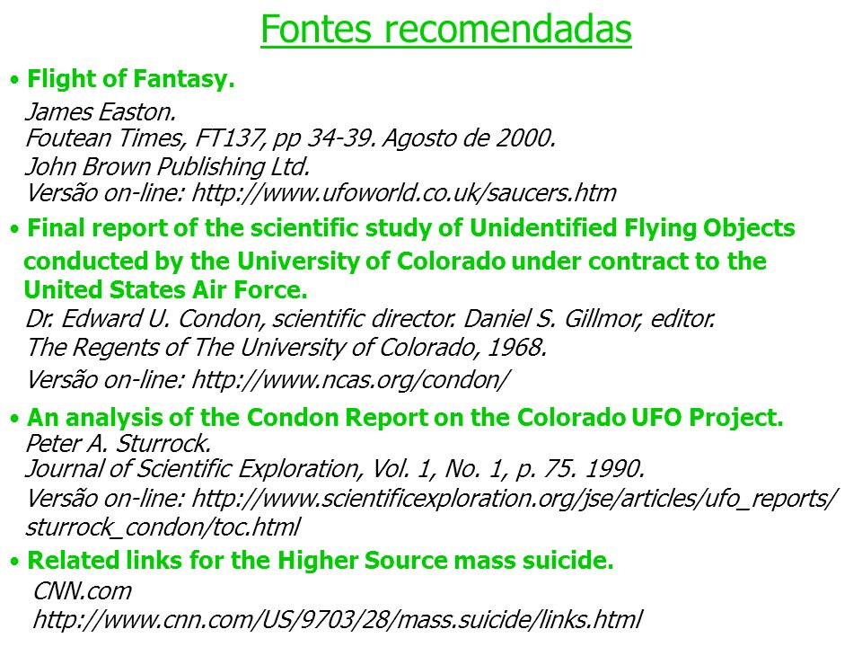 Fontes recomendadas Flight of Fantasy. James Easton.