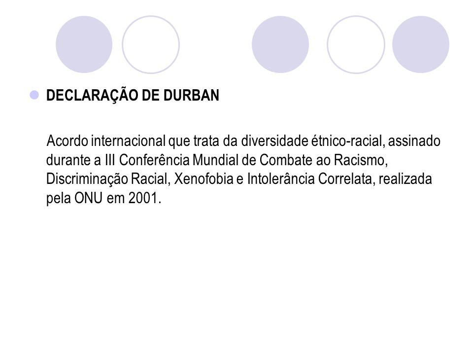 DECLARAÇÃO DE DURBAN