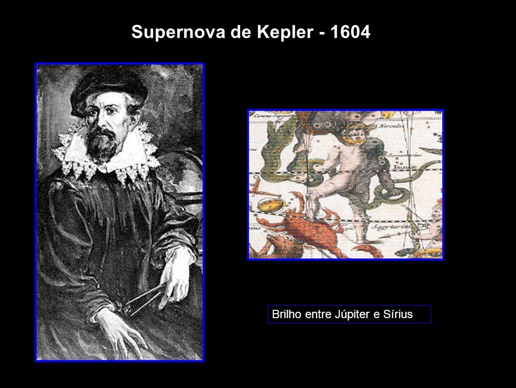 Supernova de Kepler - 1604 Brilho entre Júpiter e Sírius