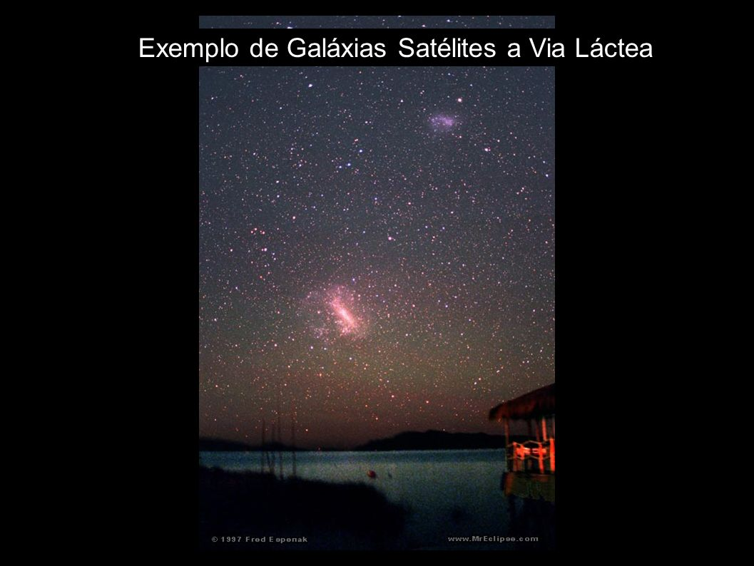 Exemplo de Galáxias Satélites a Via Láctea