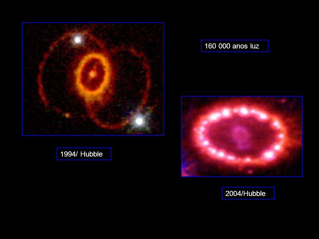 160 000 anos luz 1994/ Hubble 2004/Hubble