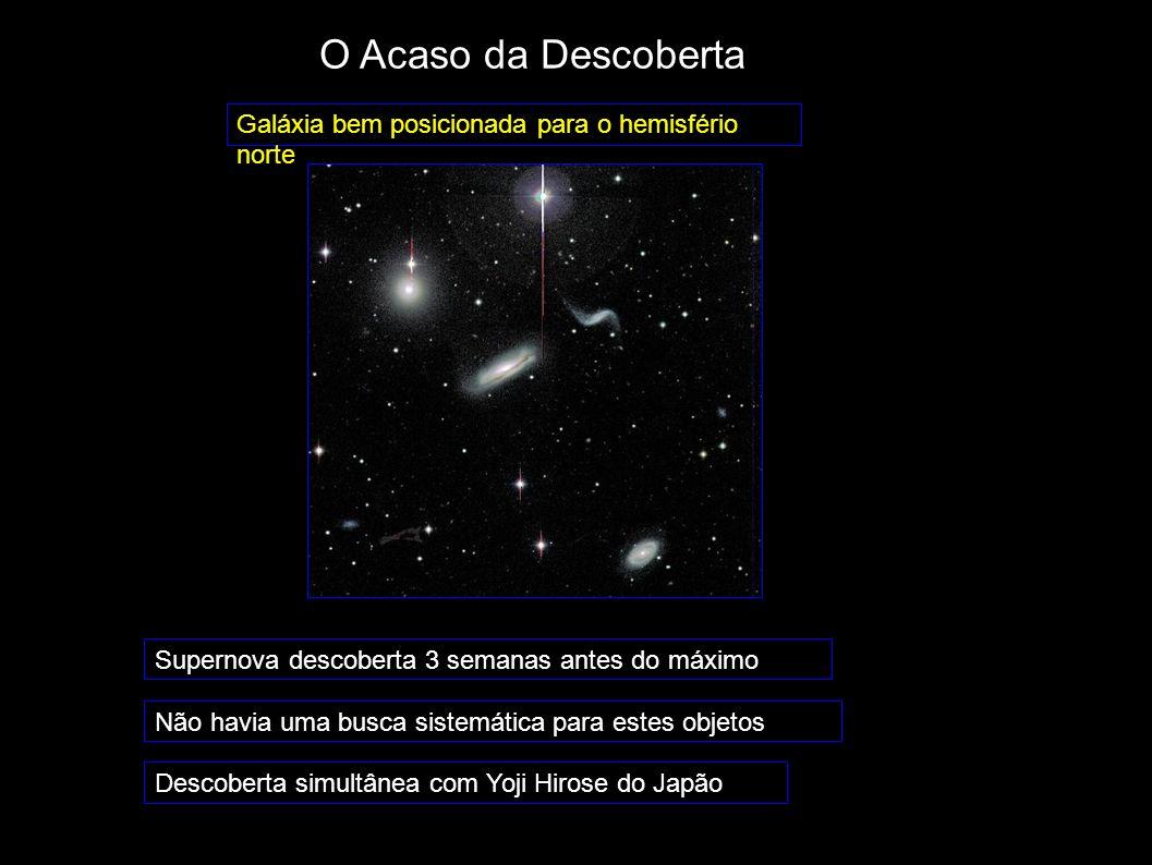 O Acaso da Descoberta Galáxia bem posicionada para o hemisfério norte