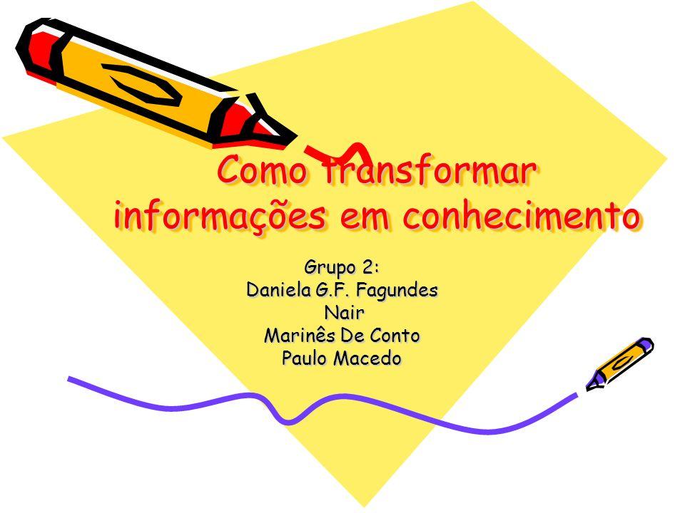 Como transformar informações em conhecimento