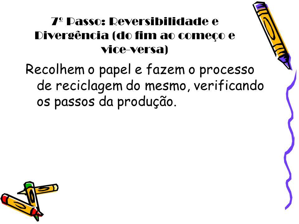 7º Passo: Reversibilidade e Divergência (do fim ao começo e vice-versa)