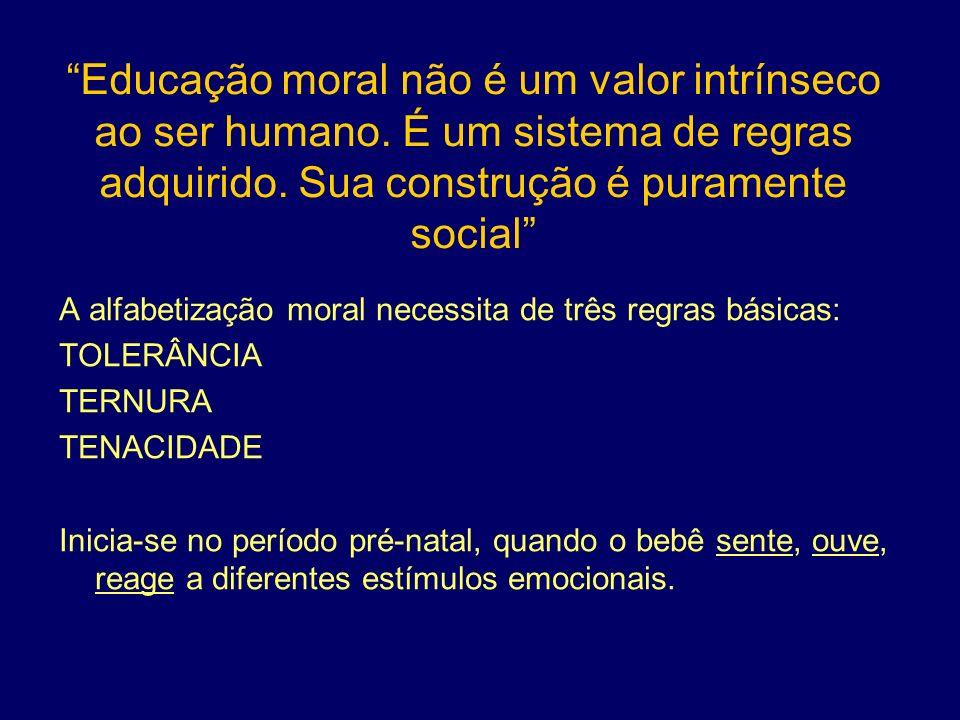 Educação moral não é um valor intrínseco ao ser humano