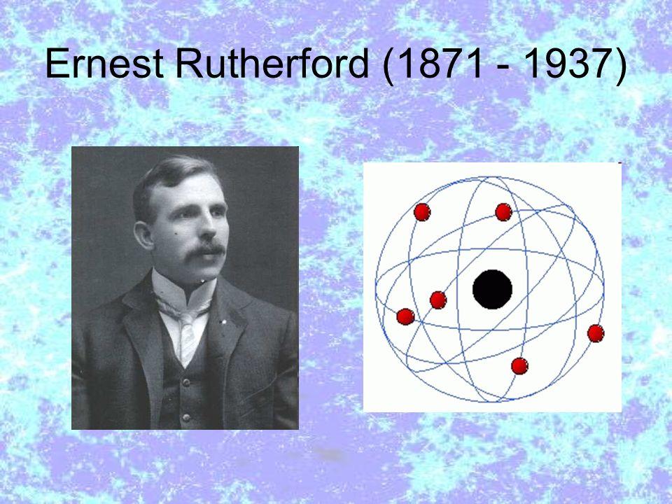 Ernest Rutherford (1871 - 1937) A teoria orbital de Rutherford encontrou uma dificuldade teórica resolvida por Niels Bohr.
